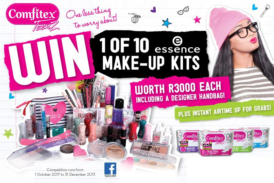 WIN 1 of 10 essence Make-Up Kits Worth R3000 Each!